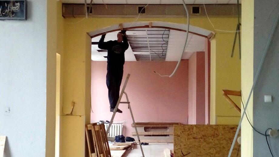 Полным ходом идут ремонтные работы в первой образцовой библиотеке Вологды